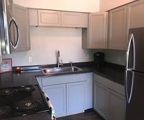 Kitchen, Oasis Apartments