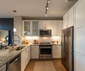 Kitchen, The Halsten at Chauncey Lane