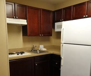 Kitchen, Furnished Studio - Austin - North Central