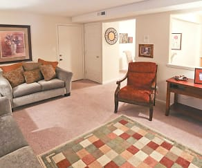 Living Room, Regency Court Apartments