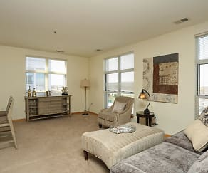Living Room, Bayshore Place Apartments