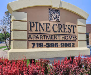 Community Signage, Pine Crest Apartments