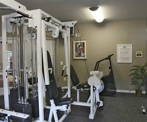 Fitness Weight Room, Pine Club Apartments