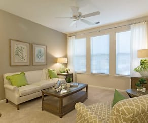 Living Room, The Apartments at Brayden