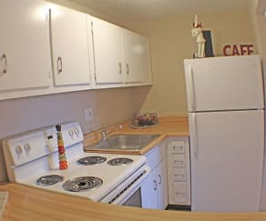 Kitchen, Rockside Place Apartments