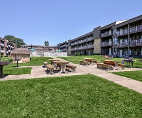 Patio / Deck, The Four Seasons Apartments