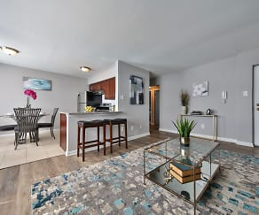 Living Room, North Brook Apartments