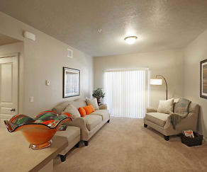 Living Room, Aspen Creek Apartments