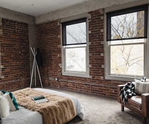 Bedroom, Joslyn Lofts