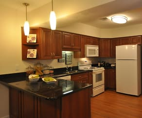 Kitchen, Rose Hall Apartments