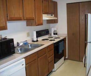 Kitchen, Parkside Apartments / Grace Manor Apartments
