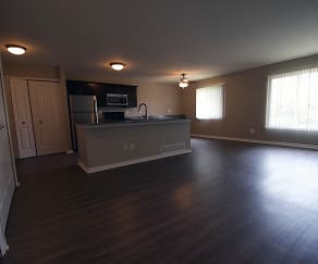 Renovated Living Room and Kitchen, Charter Square