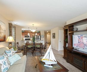 Living Room, The Hammocks At Millcreek Apartments