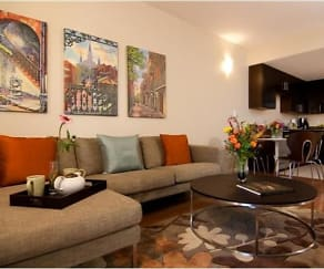 Living Room, Nine 27 Apartments