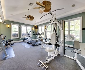 Fitness center with cardio and strength equipment, Falls Pointe at the Park