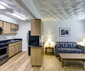 Kitchen, Oakwood Crest Furnished Apartments
