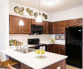 Kitchen, Villa Capri Senior Apartments