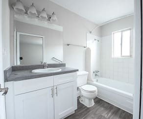 Bathroom, Park Village Apartments