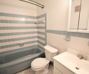 Bathroom, Meadowview Apartments