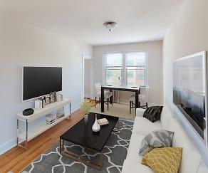 Living Room, Dahlia Apartments