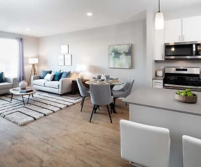 Kitchen, Living and Dining Area, Avalon Saugus