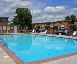 Pool, Town and Campus Apartments