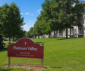 Community Signage, Platinum Valley Apartments