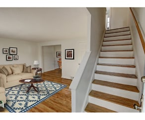 Adams Park townhomes feature hardwood floors *Virtually staged, Adams Park Apartments