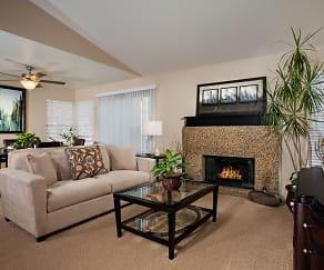 Living Room, Del Mar Apartments