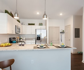 Kitchen, Village Heights Senior Apartments