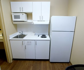 Kitchen, Furnished Studio - Newport News - Oyster Point