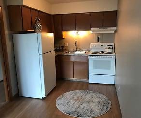 Kitchen, Riverview Apartments