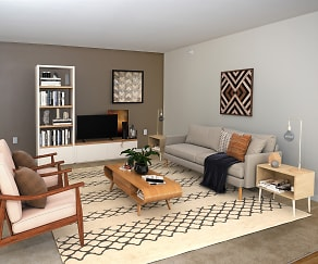 Living Room, Cardinal Point Apartments