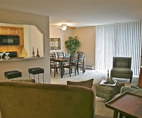 Living Room, 450 Green Apartments