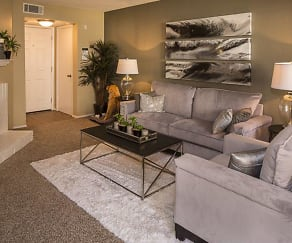 Living Room, Prestonwood Apartment Homes