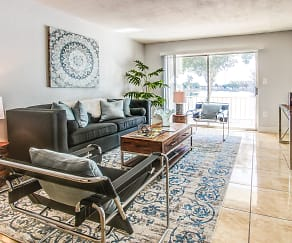 Living Room, Crystal Lakes in Miami