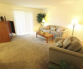 Interior-Living Room, The Pointe Apartments