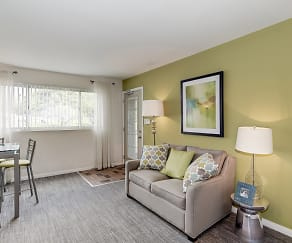 Living Room, Barclay Square Apartments