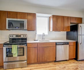 Kitchen, 3030 South Water Street Apartments