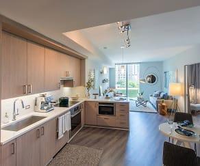 Designer lighting package with island pendants and kitchen task lighting, Element 28