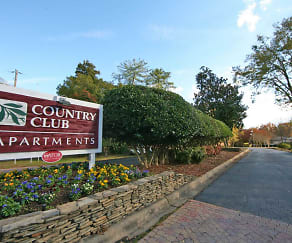 Community Signage, Country Club Apartments