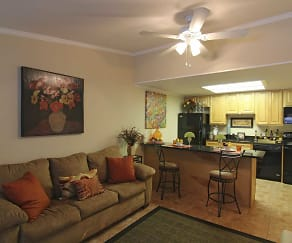 Living Room, The Bungalows Of Port Orange Apartments