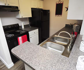 Kitchen, Bay Crossing Apartments