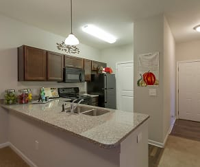 Kitchen, Steeplechase at Parkview Apartments