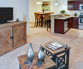 Living Room, Broadstreet At EastChase Apartments