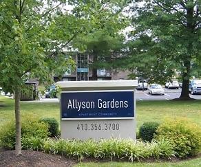 Community Signage, Allyson Gardens Apartments I