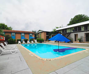 Pool, Iconic Village Apartments