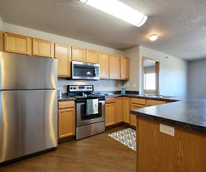 Kitchen, East Bridge Apartments