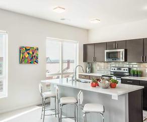 Kitchen, Echelon Apartments at Innovation Campus
