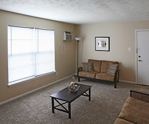 Living Room, Pegasus Place Apartments